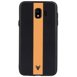 Xeuce Fusion Back Case Cover for Samsung Galaxy J4 (3770000015, Orange/Black)_1
