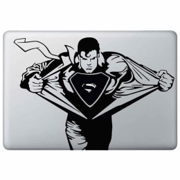 Macmerise Supermania Decal for 11 Inches Apple MacBook (MCD13RDK0200, Black)_1