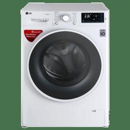 LG 7 kg Fully Automatic Front Loading Washing Machine (FHT1207SWW, Blue White)_1