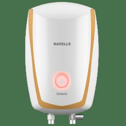 Havells Instanio 3 Litres Vertical Instant Water Geyser (GHWAIBPWH003, White/Mustard)_1