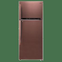 LG 471 L 3 Star Frost Free Double Door Inverter Refrigerator (GL-T502FASN, Amber Steel)_1