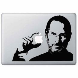 Macmerise Steve Apple Jobs Decal for 11 Inches Apple MacBook (MCDM13MI0092, Black)_1