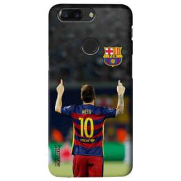 Macmerise Strike Messi Polycarbonate Back Case Cover for OnePlus 5T (OPCO5TSBA1860, Multicolor)_1