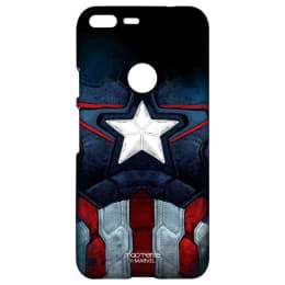 Macmerise Captain America Suit Polycarbonate Sublime Back Case Cover for Google Pixel 2 (GOCGPXSMM0306, Multicolor)_1