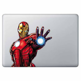 Macmerise Iconic Ironman Decal for 11 Inches Apple MacBook (MCDM13MM0038, Red)_1