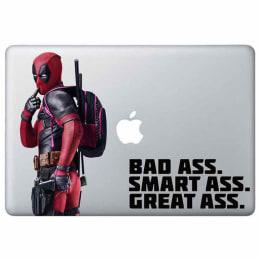 Macmerise Smart Ass Deadpool Decal for 11 Inches Apple MacBook (MCD13RMM0116, Red)_1