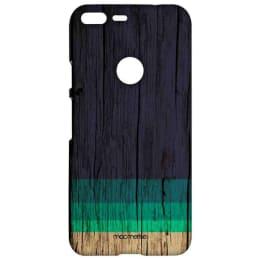 Macmerise Wood Stripes Blue Polycarbonate Back Case Cover for Google Pixel 2 (GOCGPXSMI2298, Blue)_1