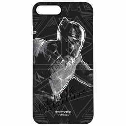 Macmerise Black Panther Stare Polycarbonate Back Case Cover for Apple iPhone 7 Plus/8 Plus (IPCI8PPMM0244, Black)_1