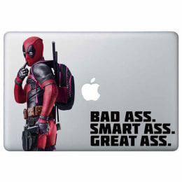 Macmerise Smart Ass Deadpool Decal for 11 Inches Apple MacBook (MCDM11MM0116, Red)_1