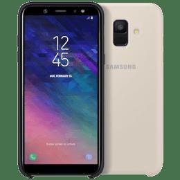 Samsung Galaxy A6 Dual Layer Plastic Back Case Cover (EF-PA600CFEGIN, Gold)_1