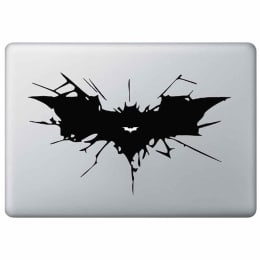 Macmerise The Batmac Decal for 11 Inches Apple MacBook (MCDM13DK0074, Black)_1