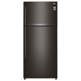 LG 603 L 3 Star Frost Free Double Door Inverter Refrigerator (GR-H772HXHU, Black Steel)_1
