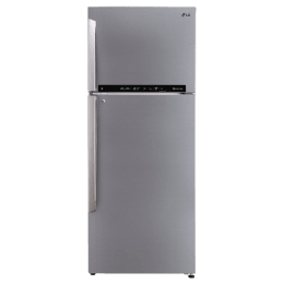 LG 471 Litres 2 Star Frost Free Inverter Double Door Refrigerator (Door Cooling Plus, GL-T502FPZU, Shiny Steel)_1