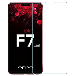RedFinch Tempered Glass Screen Protector for Oppo F7 (Transparent)_1