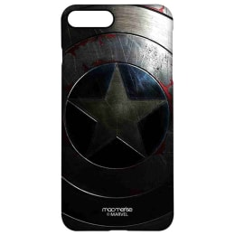 Macmerise Rusted Captains Shield Polycarbonate Back Case Cover for Apple iPhone 8 Plus (IPCI8PPMM2706, Rust Silver)_1