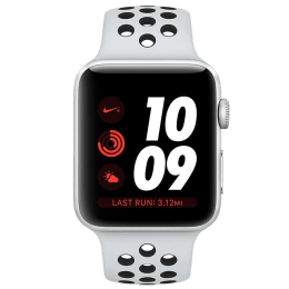 Apple Watch Nike+ Smartwatch (GPS+Cellular, 42mm) (Heart Rate Sensor, MQME2HN/A, Silver/Grey, Nike Sport Band)_1