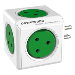 Allocacoc Powercube 10 Amp 5 Socket Power Adapter (6500GN/INORPC, Green)_1