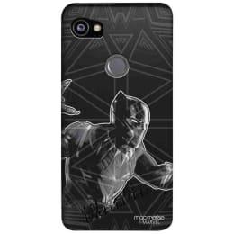 Macmerise Black Panther Stare Polycarbonate Back Case Cover for Google Pixel 2 XL (GOC2XLSMM0244, Black)_1