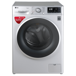 LG 8 kg Fully Automatic Front Loading Washing Machine (FHT1208SWL, Luxury Silver)_1