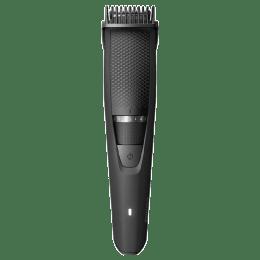 Philips Beardtrimmer Series 3000 Full Metal Blades Corded & Cordless Beard Trimmer (60 Min Run Time/1h Charge, 20 Length Settings, BT3227/15, Black)_1