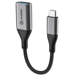 Alogic Super Ultra 15 cm USB 3.1 Type-C to USB-A Adapter (Rugged Construction, ULCAA-SGR, Space Grey)_1