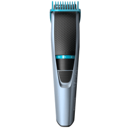 Philips Beardtrimmer Series 3000 Stainless Steel Blades Cordless Beard Trimmer (60 Min Run Time/10h Charge, 10 Length Settings, BT3102/15, Black/Grey)_1