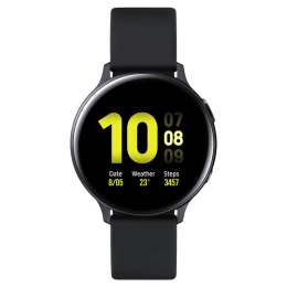 Samsung Galaxy Active 2 Smartwatch (GPS+Cellular, 34.50mm) (Heart Rate Monitor, SM-R825FZKIINU, Black, Silicone Band)_1