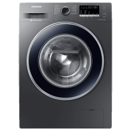 Samsung 8 kg 5 Star Fully Automatic Front Load Washing Machine (Hygiene Steam, WW81J54E0BX/TL, Inox)_1