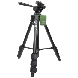Benro Adjustable 145 cm Digital Tripod Kit for DSLR, Video and Digital Camera (Up to 3Kg, T660EX, Black)_1