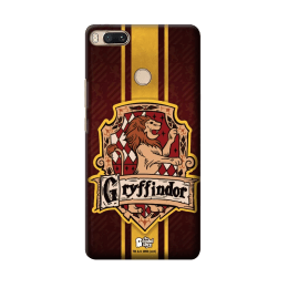 The Souled Store Harry Potter - Gryffindor Sigil Polycarbonate Mobile Back Case Cover for Xiaomi Mi A1 (73636, Caramel Brown)_1