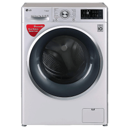 LG 7 kg Fully Automatic Front Loading Washing Machine (FHT1207SWL, Luxury Silver)_1
