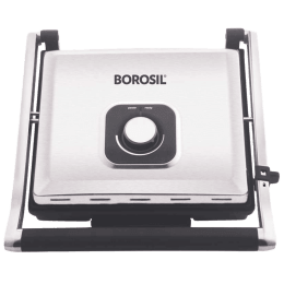 Borosil Super Jumbo 2000 Watts 4 Slice Automatic Grill Sandwich Maker (Automatic Temperature Control, BGRILLSS23, Silver)_1