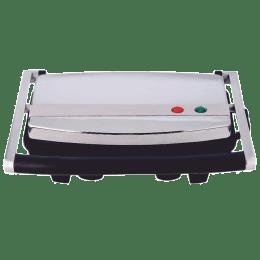 Borosil Jumbo 1000 Watts 2 Slice Automatic Grill Sandwich Maker (Lid Lock, BGRILLSS22, Silver)_1