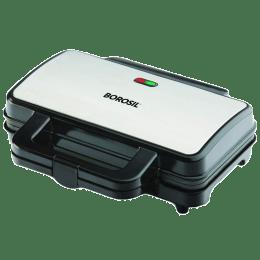 Borosil Neo Waffle 1000 Watts 2 Slice Automatic Grill Sandwich Maker (Automatic Temperature Control, BWM100SS11, Silver)_1