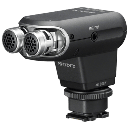 Sony Stereo Microphone For Camcorders (Reduce Wind Noise, ECM-XYST1M, Black)_1