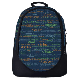 The Souled Store Coding 25 Litres Laptop Backpack (Blue/Black)_1