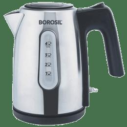 Borosil Daisy 1 Litre 1200 Watts Electric Kettle (Detachable Base, BKE10LSSB12, Steel)_1