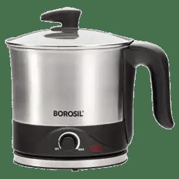 Borosil Omni 1.5 Litres 600 Watts Electric Kettle (Detachable Base, Dry Boil Protection, BKE15LSSB22, Silver)_1