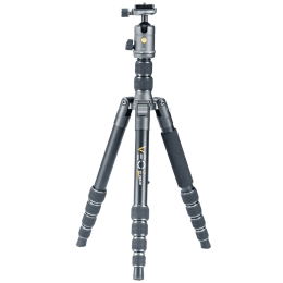 Vanguard Veo 2 Go Adjustable 143 cm Aluminum Ball Head Tripod for All Cameras (Up to 6 Kg, Round Rubber Feet, 265AB, Black)_1