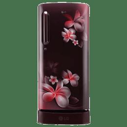 LG 190 L 4 Star Direct Cool Single Door Inverter Refrigerator (GL-D201ASPX, Scarlet Plumeria)_1