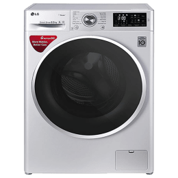 LG 6.5 kg Fully Automatic Front Loading Washing Machine (FHT1265SNLALSPEIL, Luxury Silver)_1