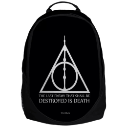 The Souled Store Harry Potter- Deathly Hallows 30 Litres Laptop Backpack (Black)_1
