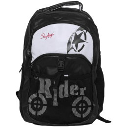 Skybags Skater 1 30 Litres Polyester Backpack For 15.6 Inch Laptop (Padded Fabric Handle, BPSKA01HBLK, Black)_1