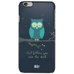 The Souled Store Romantic Owl Polycarbonate Mobile Back Case Cover for Apple iPhone 6S (75348, Black)_1