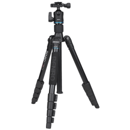 Benro iTrip Adjustable 131.50 cm Aluminium Travel Angel Tripod Kit for DSLR/SLR and Video Camera (Up to 6Kg, IT25, Black)_1