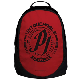 """The Souled Store WWE- AJ Styles """"Untouchable"""" 25 Litres Laptop Backpack (Red/Black)_1"""