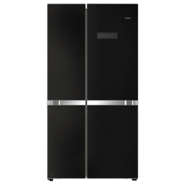 Haier 565 L Frost Free Side by Side Inverter Refrigerator (HRF-619KG, Black Glass)_1