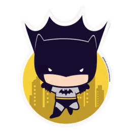 The Souled Store I Am Batman Sticker (Black/Yellow)_1