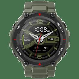 Amazfit T-Rex Smartwatch (GPS+Gloanass, 34mm) (Rugged Body, Black/Army Green, Polymer Band)_1