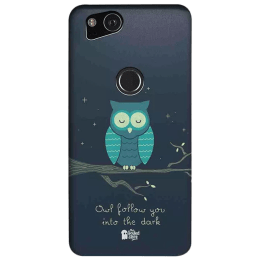 The Souled Store Romantic Owl Polycarbonate Mobile Back Case Cover for Google Pixel 2 (79969, Black)_1